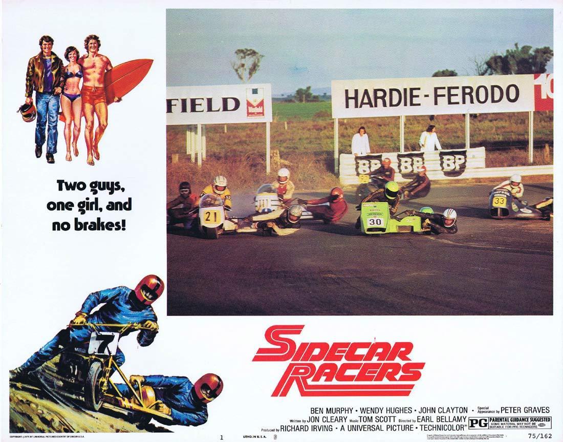 SIDECAR RACERS Lobby card 1 Hardie Ferodo BP MotorCycle Biker