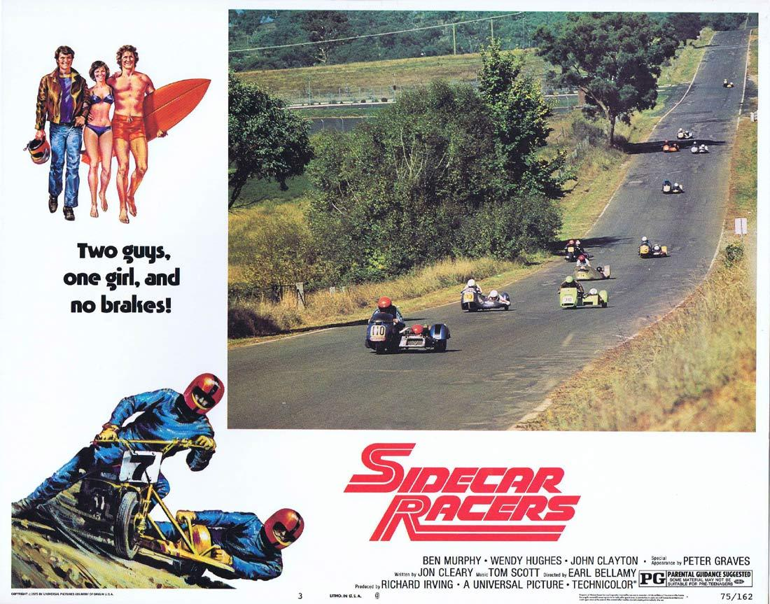 SIDECAR RACERS 1975 MotorCycle / Biker US Lobby card 3