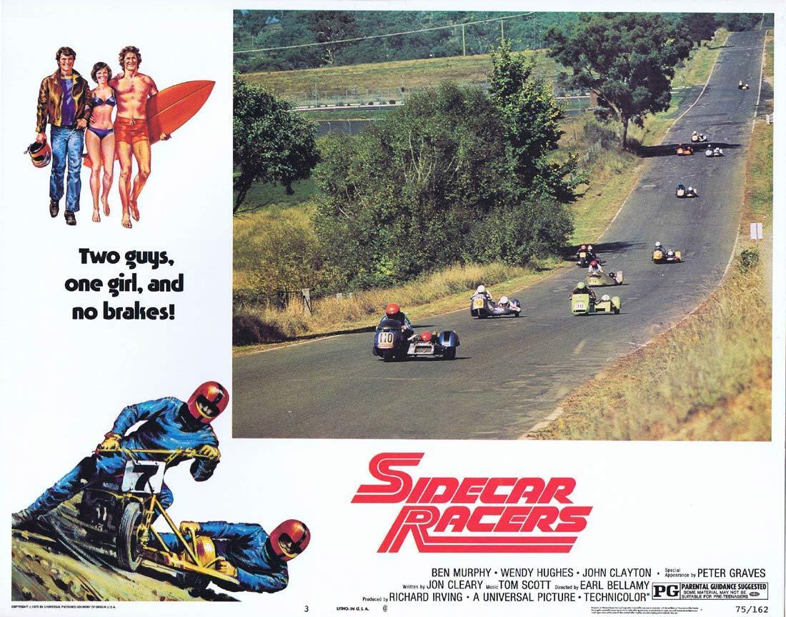 SIDECAR RACERS Lobby card 3 Hardie Ferodo BP MotorCycle Biker