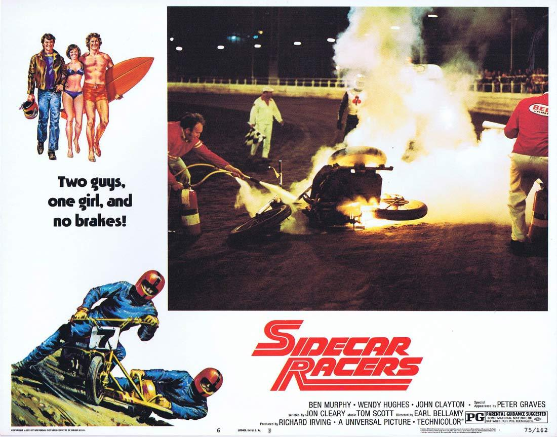 SIDECAR RACERS 1975 MotorCycle / Biker US Lobby card 6
