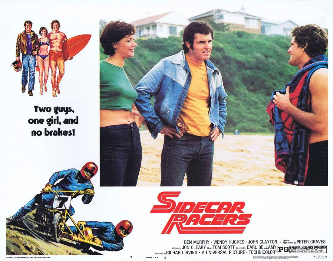 SIDECAR RACERS 1975 MotorCycle / Biker US Lobby card 8