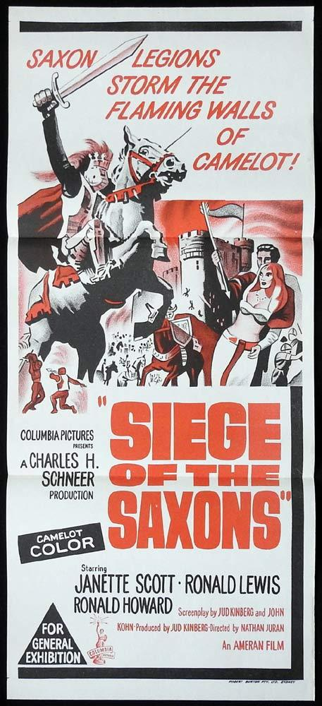 SIEGE OF THE SAXONS Original Daybill Movie Poster Janette Scott Ronald Lewis