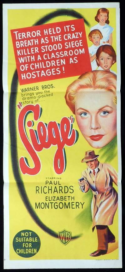 SIEGE Daybill Movie poster Elizabeth Montgomery Film Noir
