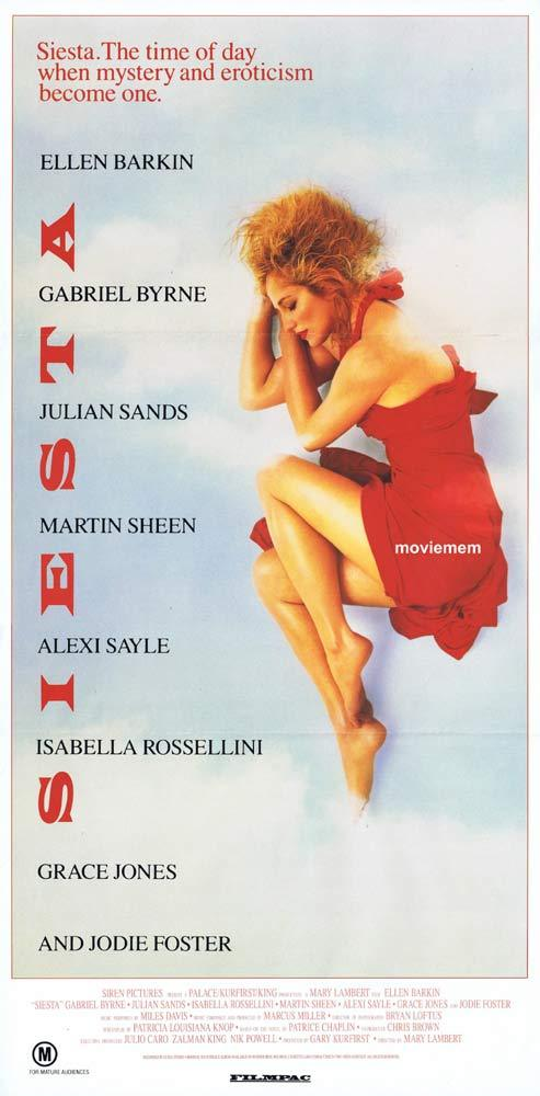 SIESTA Original daybill Movie poster Ellen Barkin Gabriel Byrne Julian Sands