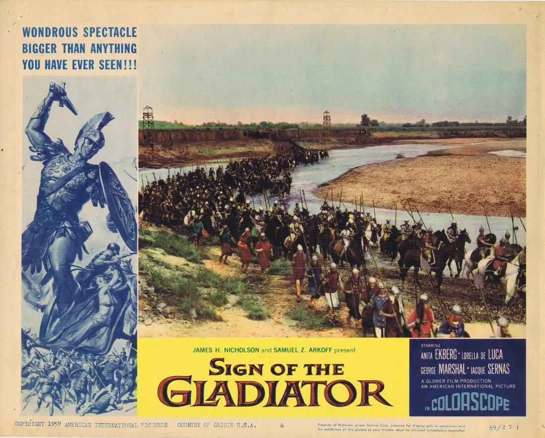 SIGN OF THE GLADIATOR Original Lobby Card 6 Anita Ekberg Sheba and the Gladiator