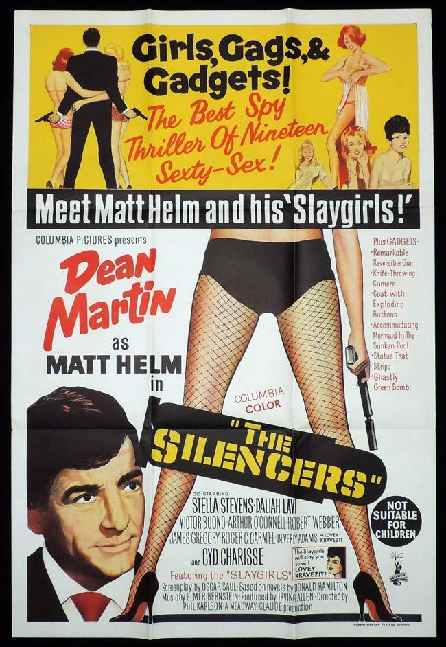 THE SILENCERS One Sheet Movie Poster Dean Martin Matt Helm