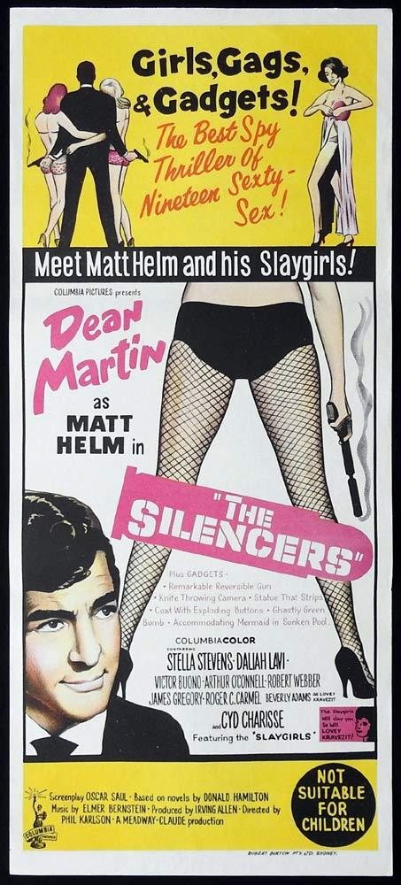 THE SILENCERS Original Daybill Movie Poster Dean Martin Matt Helm Stella Stevens