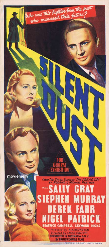 SILENT DUST Original Daybill Movie Poster Stephen Murray Beatrice Campbell