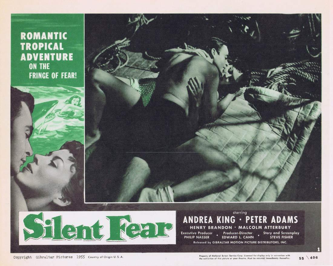 SILENT FEAR Lobby Card 1 Andrea King Peter Adams Henry Brandon