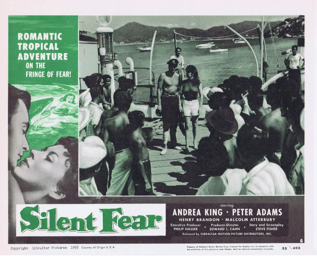 SILENT FEAR Lobby Card 6 Andrea King Peter Adams Henry Brandon