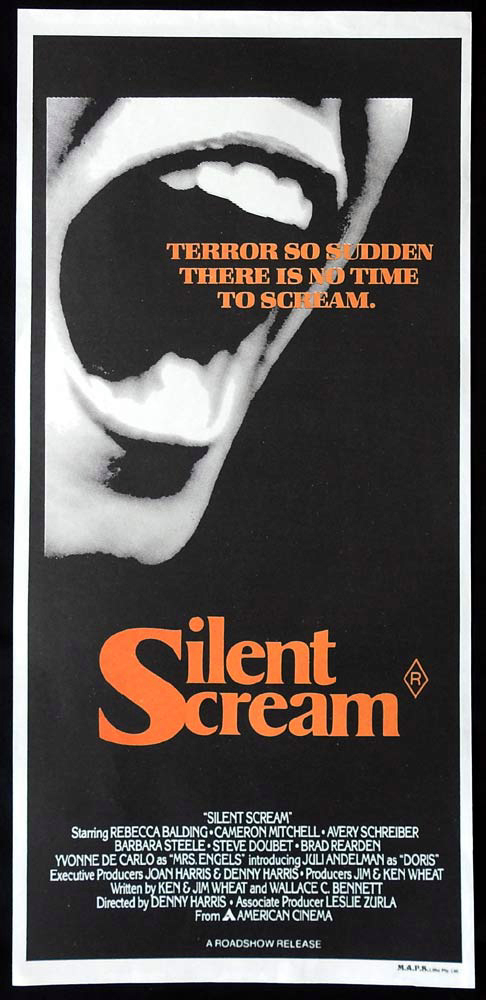 SILENT SCREAM Original Daybill Movie Poster Rebecca Balding