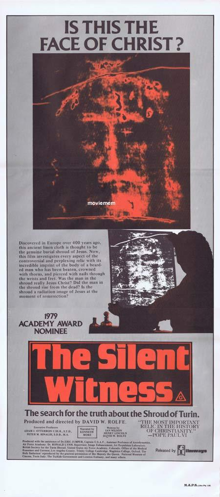 THE SILENT WITNESS Original Daybill Movie poster Shroud of Turin documentary