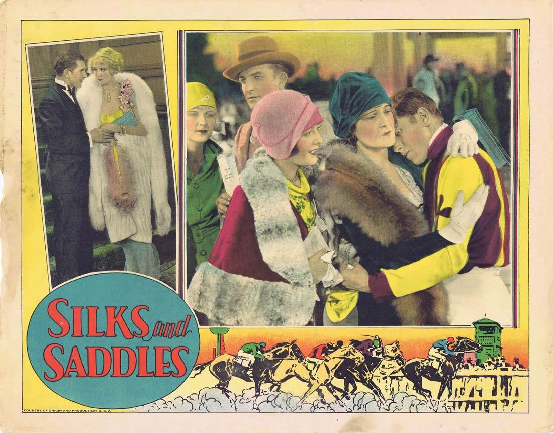 SILKS AND SADDLES Lobby Card 4 Horse Racing film Marion Nixon 1929