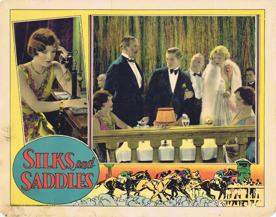 SILKS AND SADDLES Lobby Card 2 Horse Racing film Marion Nixon 1929