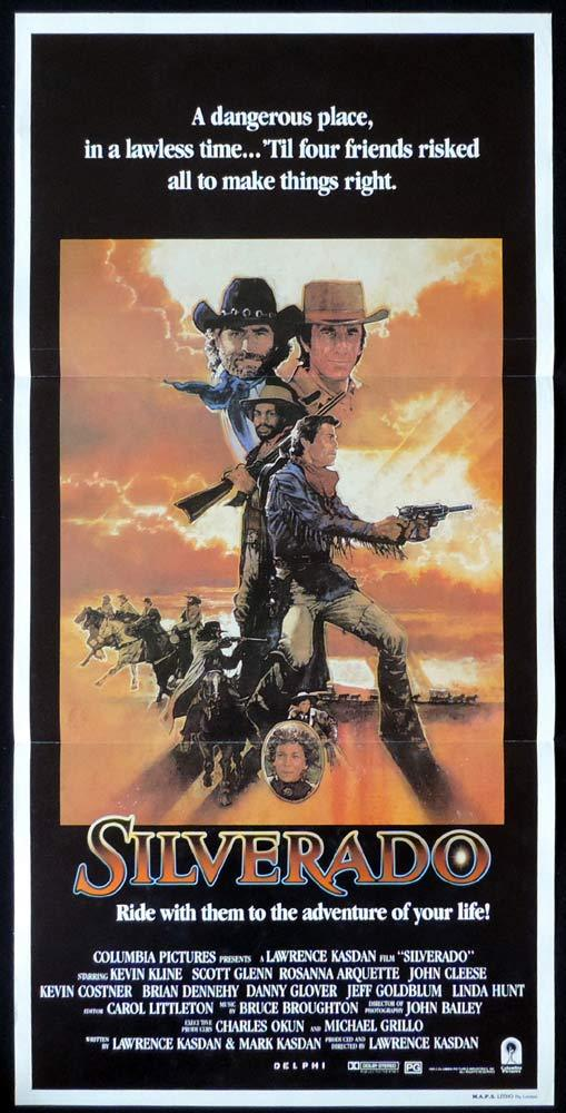 SILVERADO Original daybill movie poster Kevin Kline Scott Glenn Kevin Costner