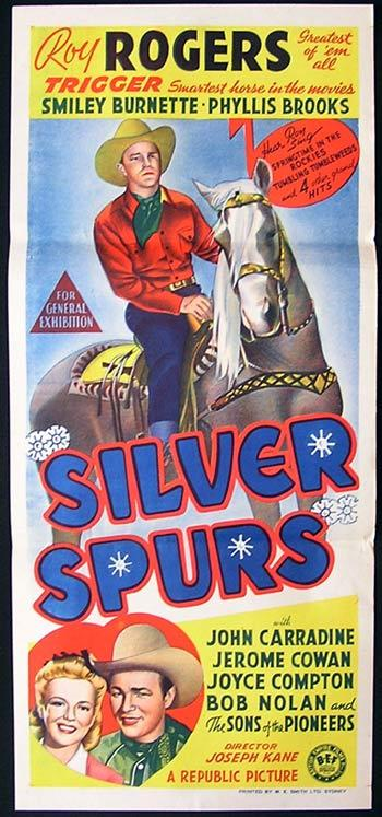 SILVER SPURS Original Daybill Movie Poster Roy Rogers Western