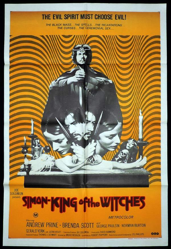 SIMON KING OF THE WITCHES One Sheet Movie Poster Andrew Prine