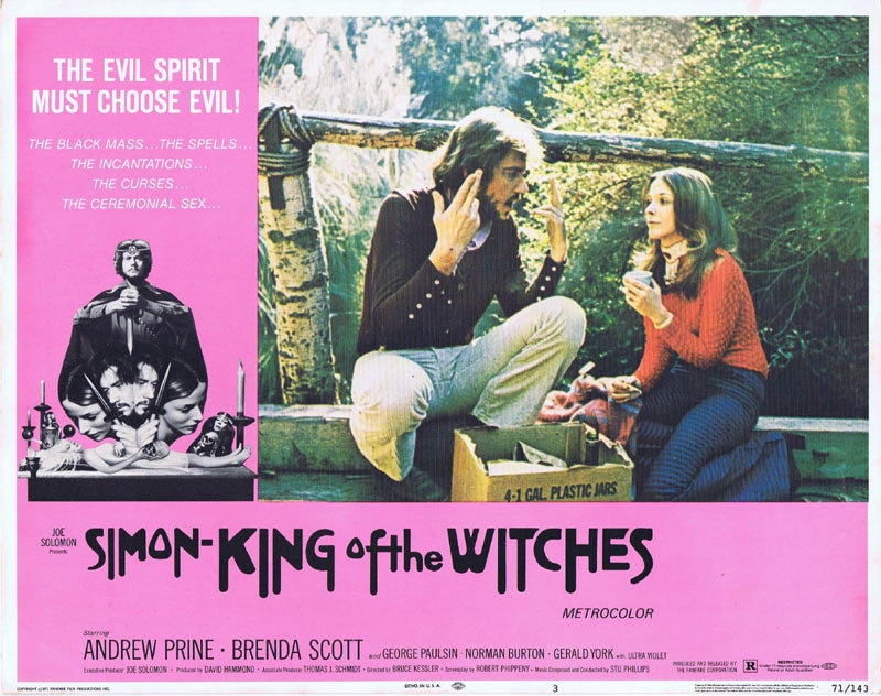 SIMON KING OF THE WITCHES Lobby card 3 Horror