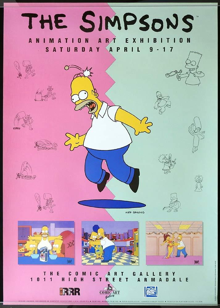 THE SIMPSONS Original Daybill Exhibition Poster 1994