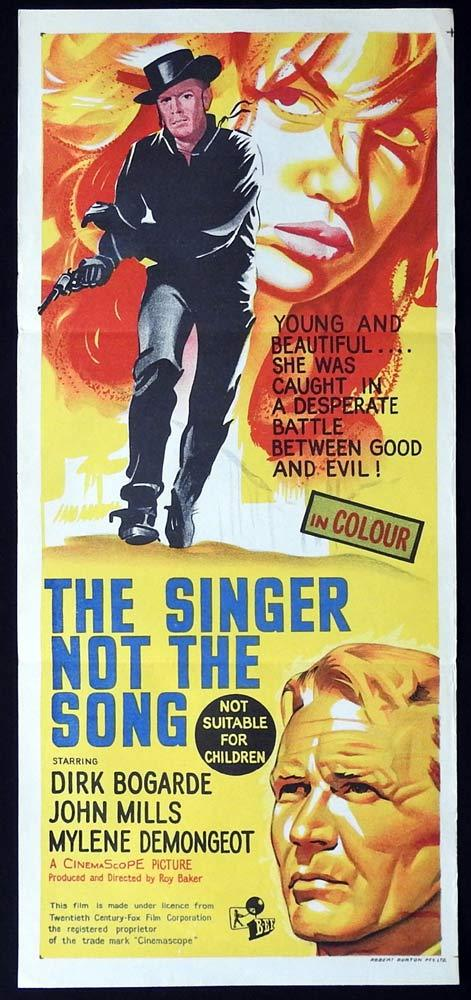 THE SINGER NOT THE SONG Original Daybill Movie poster Dirk Bogarde John Mills