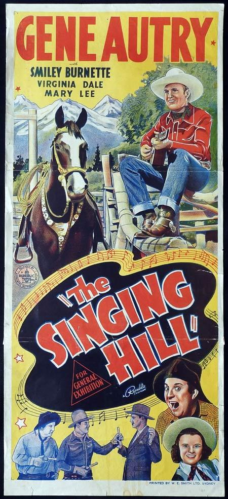 THE SINGING HILL Original daybill Movie Poster 1941 Gene Autry