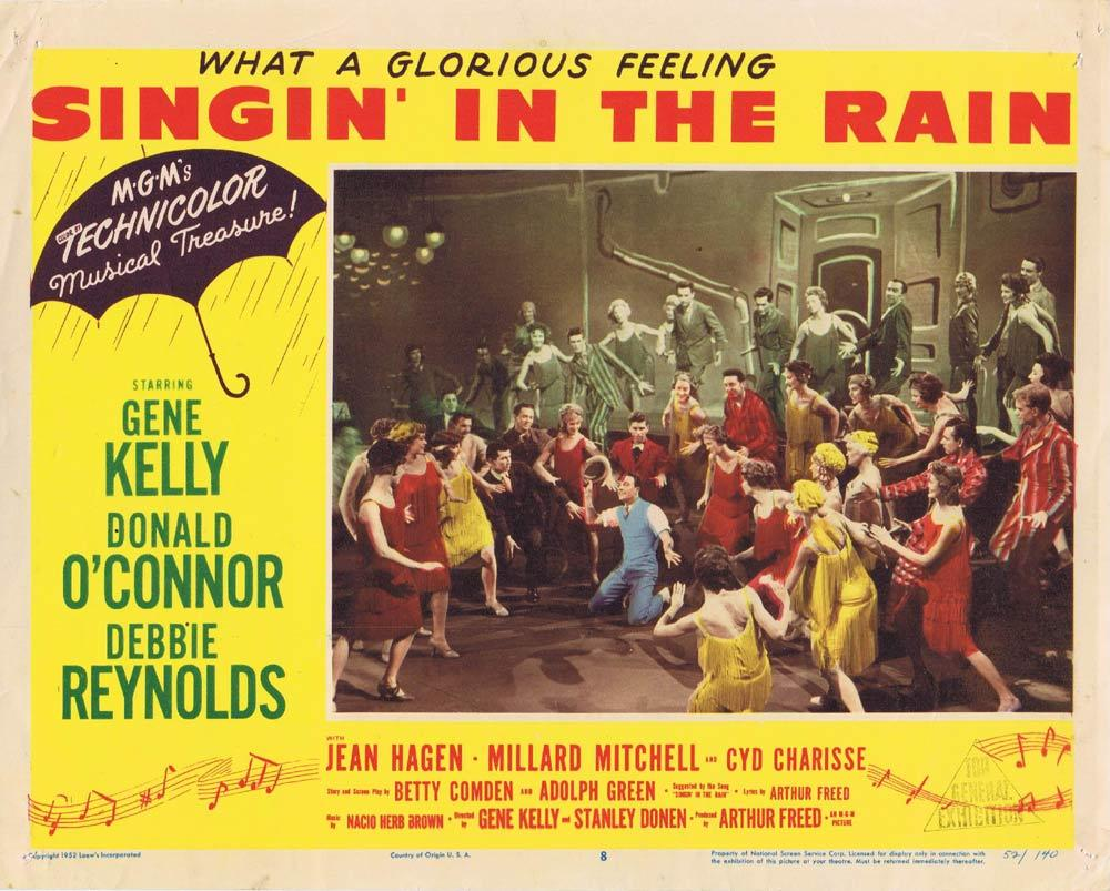 SINGIN IN THE RAIN Vintage Lobby Card 7 The Marx Brothers Groucho