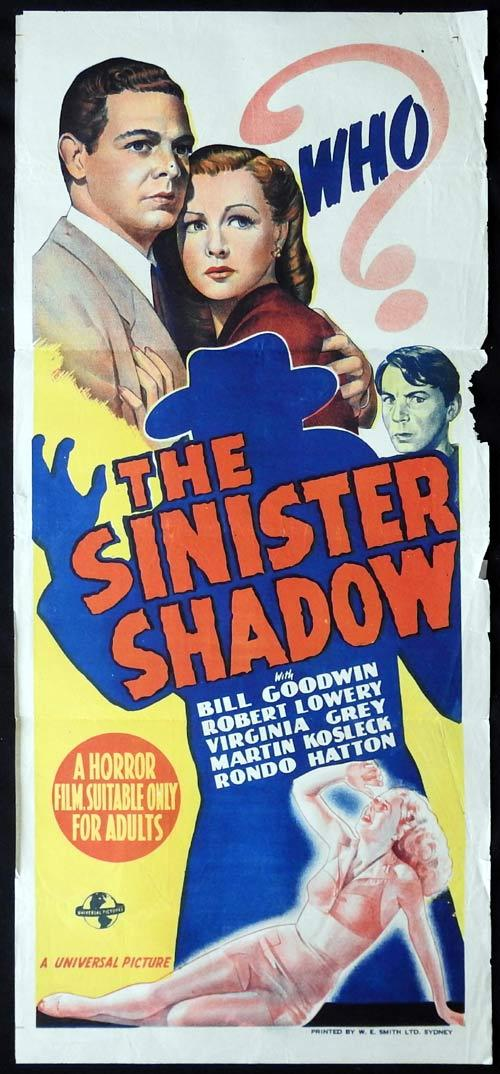 THE SINISTER SHADOW aka HOUSE OF HORRORS Original Daybill Movie Poster Universal Horror