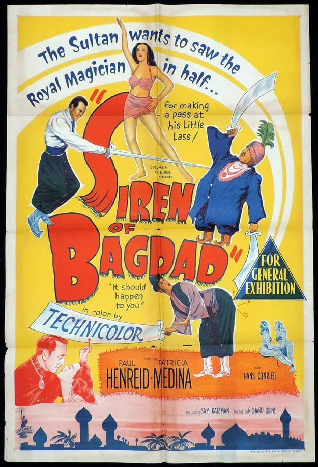 SIREN OF BAGDAD One Sheet Movie Poster Patricia Medina Magician