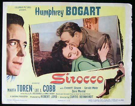 SIROCCO '51-Humphrey Bogart ORIGINAL US Lobby card