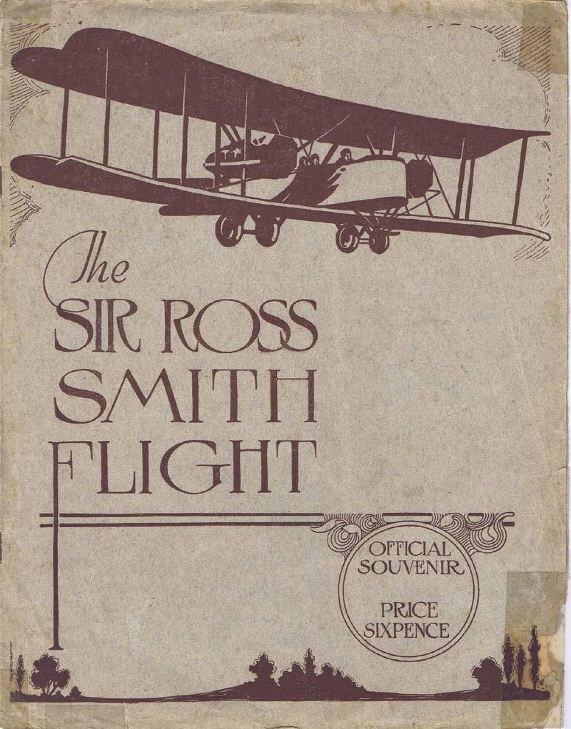 THE SIR ROSS SMITH FLIGHT Original Souvenir Movie Australian Documentary c.1921
