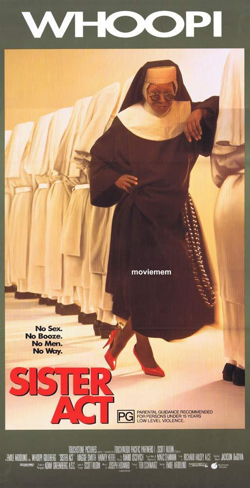 SISTER ACT Original Daybill Movie poster Whoopi Goldberg