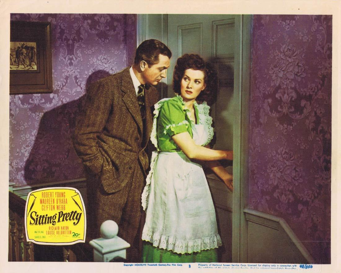 SITTING PRETTY Original Lobby Card 3 Robert Young Maureen O'Hara