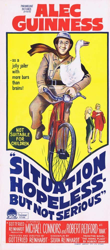 SITUATION HOPELESS BUT NOT SERIOUS Movie Poster 1965 Alec Guinness daybill