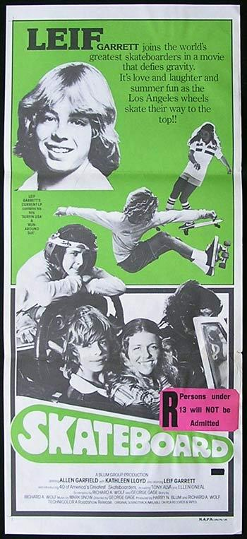 SKATEBOARD Original daybill Movie Poster Leif Garrett Allen Garfield Tony Alva