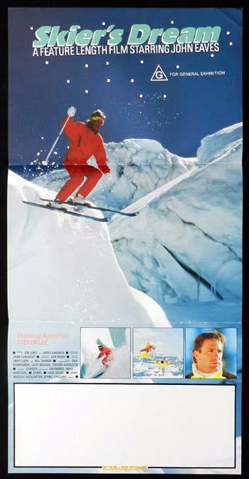 SKIER'S DREAM John Eaves Snow Ski RARE Daybill Movie poster