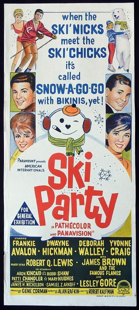 SKI PARTY Original Daybill Movie Poster Frankie Avalon Dwayne Hickman