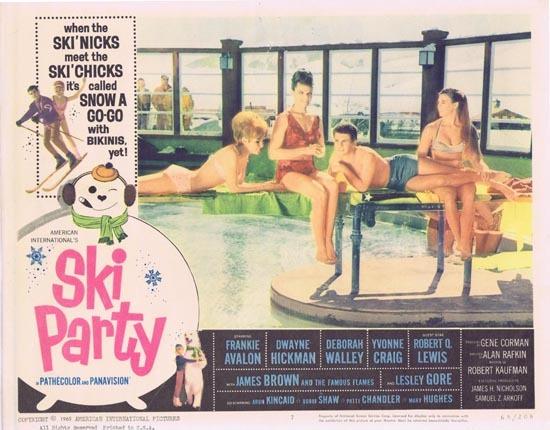 SKI PARTY Lobby card 7 Frankie Avalon and Snow Chicks