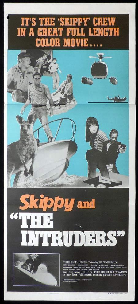 SKIPPY AND THE INTRUDERS Daybill Movie poster 1969 Bush Kangaroo