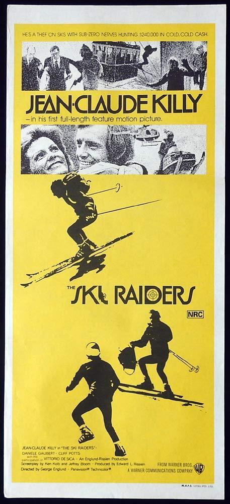 THE SKI RAIDERS Original Daybill Movie Poster Jean-Claude Killy Danièle Gaubert