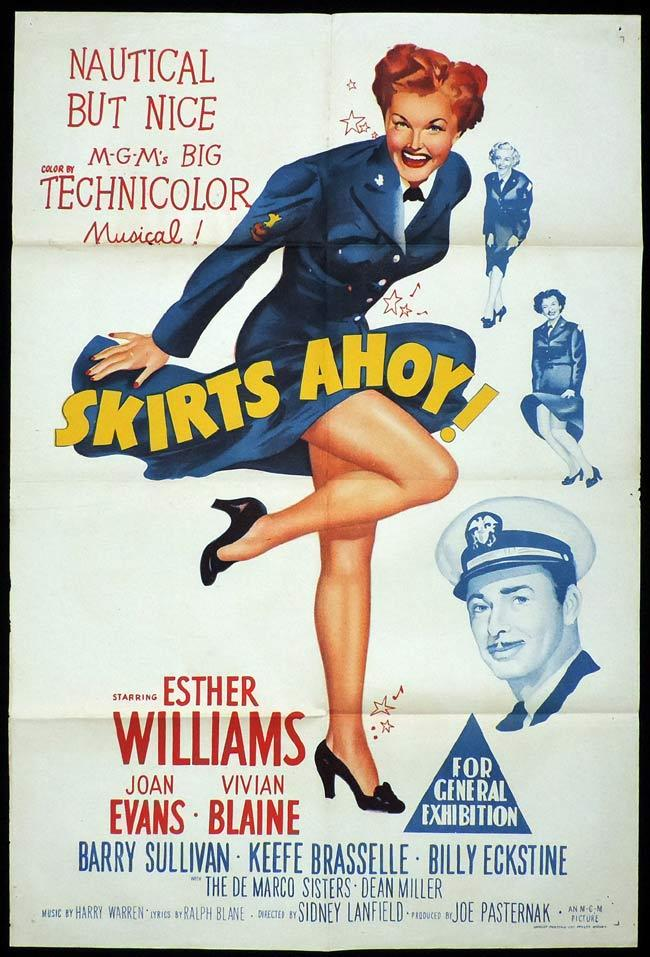 SKIRTS AHOY Original One sheet Movie Poster Esther Williams Vivian Blaine