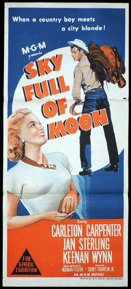 SKY FULL OF MOON Original Daybill Movie Poster Carleton Carpenter