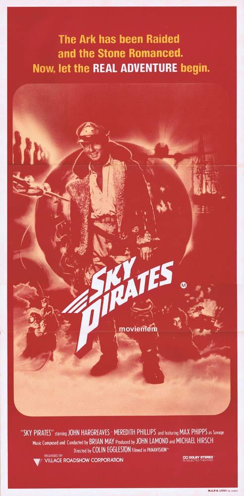 SKY PIRATES Original Daybill Movie Poster John Hargraeves