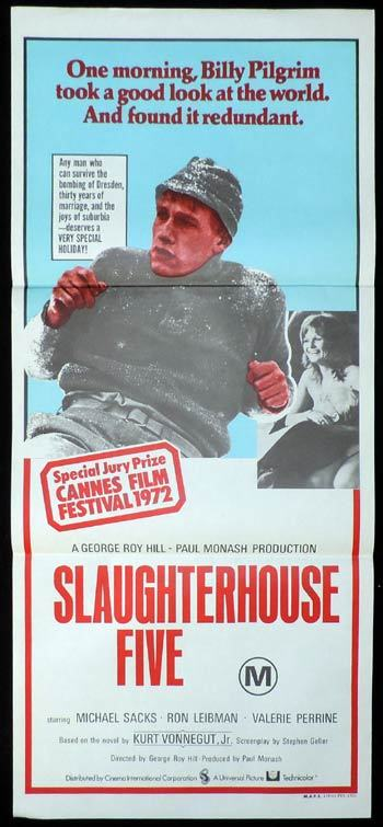 SLAUGHTERHOUSE FIVE Daybill Movie poster Valerie Perrine