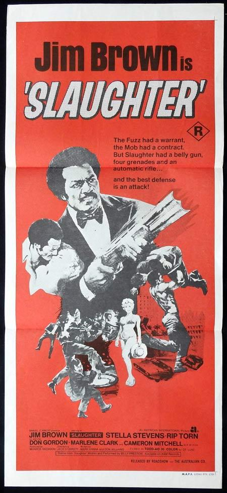 SLAUGHTER Original Daybill Movie Poster Jim Brown Green Beret