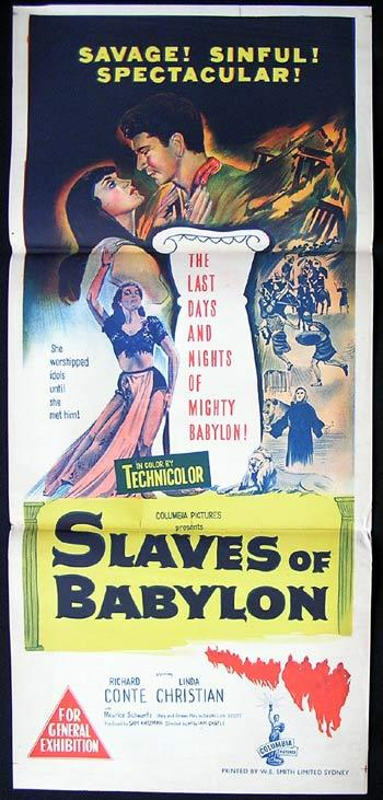SLAVES OF BABYLON '53 William Castle RARE poster