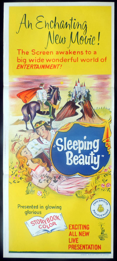 SLEEPING BEAUTY Original Daybill Movie poster Columbia Pictures