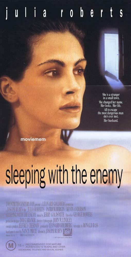 SLEEPING WITH THE ENEMY Original Daybill Movie Poster Julia Roberts Patrick Bergin