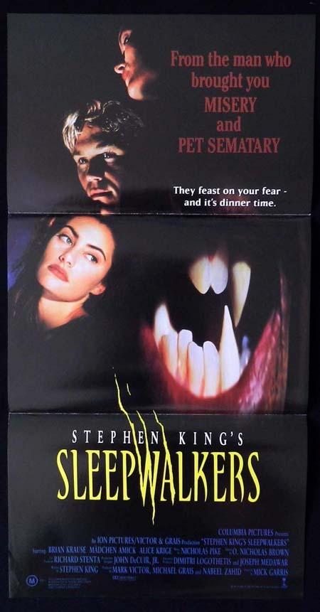 SLEEPWALKERS Original Daybill Movie Poster Stephen King Horror