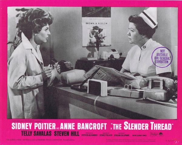 THE SLENDER THREAD Original Lobby Card 2 Ann Bancroft