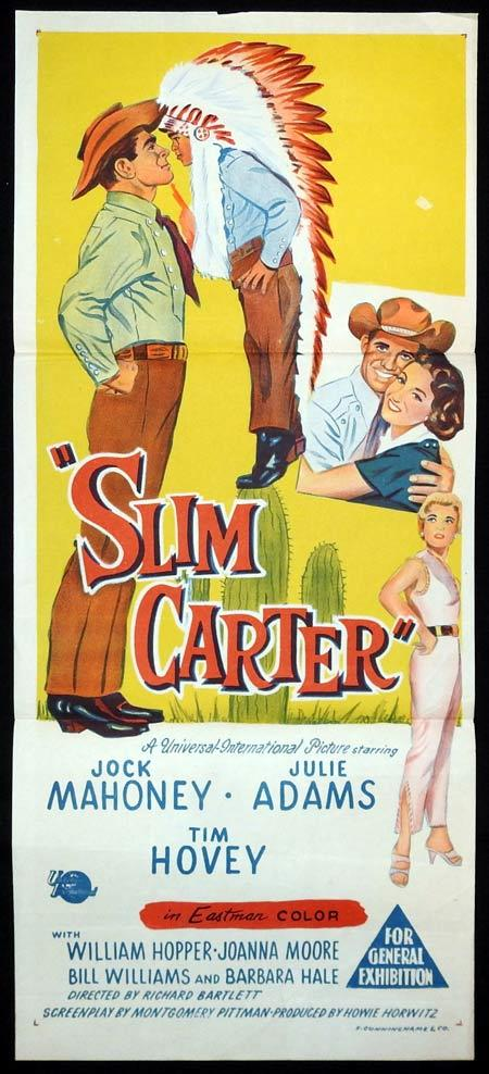 SLIM CARTER Original Daybill Movie Poster Jock Mahoney Julie Adams Tim Hovey